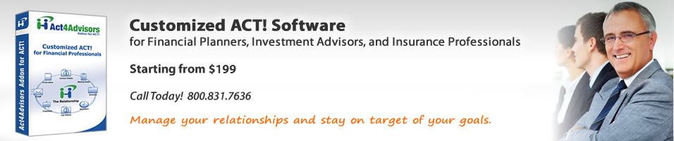 Act4Advisors CRM software for Financial